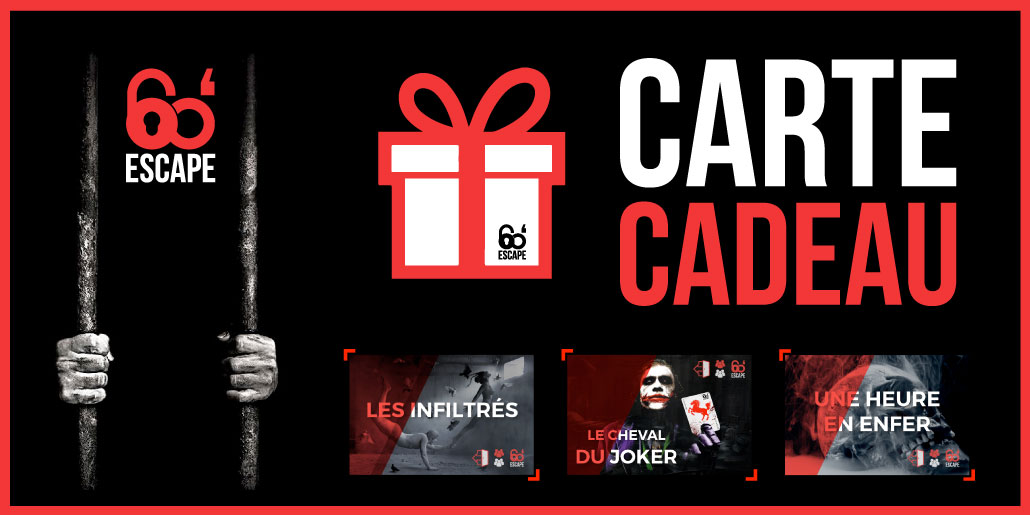 Carte Cadeau 60 Minutes Escape